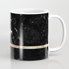 Black Marble with Rose Gold Stripe #1 #shiny #glam #decor #art #society6 Coffee Mug