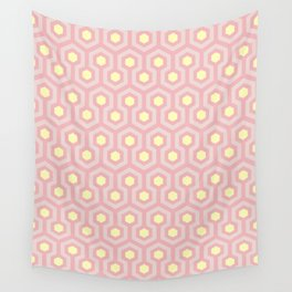 Peony, blush, and buttercup yellow geometric pattern Wall Tapestry