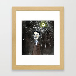 Nikola Tesla's idea Framed Art Print