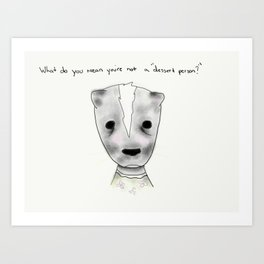 ms skunk Art Print