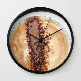 Cappuccino Coffee Wall Clock