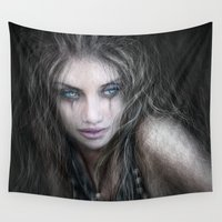 into the wild Wall Tapestries featuring Wild by Justin Gedak