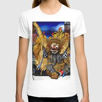 bali T-shirts featuring Barong Dance of Bali by yadi sudjana