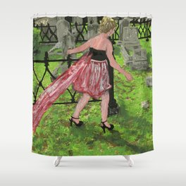 grave girl Shower Curtain