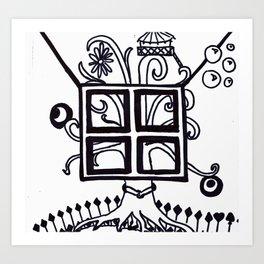 Treehouse Sharpie Art Print