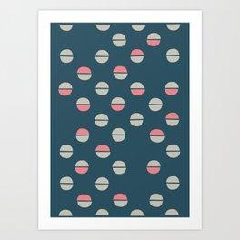 Acorns pattern funky Art Print