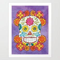 Day of the Dead Sugar Skull Art Print
