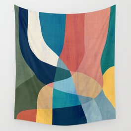 Waterfall and forest Wall Tapestry