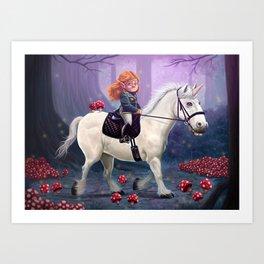 Mushroom Princess Art Print