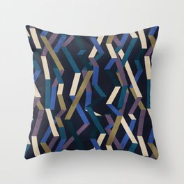Straight Geometry Ribbons 2 Throw Pillow
