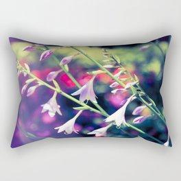 Bold Purple Flowers Rectangular Pillow