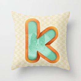 Kitty K Throw Pillow