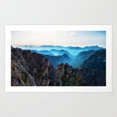 Mountains Breathe Too Art Print