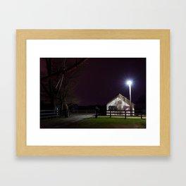 Equestrian school Framed Art Print