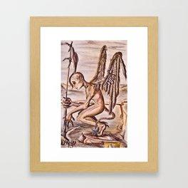 Agel of demons Framed Art Print