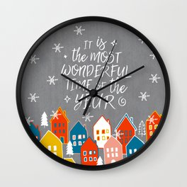wondeful time of the year Wall Clock