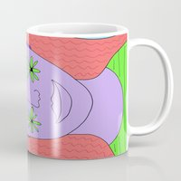 new year Mugs featuring New Year by Amanda Trader