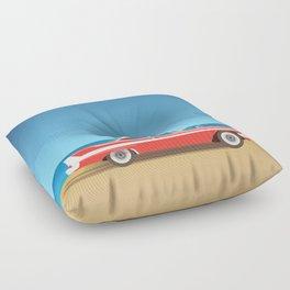 Vintage Car Floor Pillow