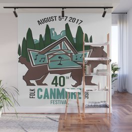 Canmore Folk Festival 40th Anniversary Wall Mural