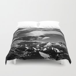 Raven and Clouds Duvet Cover