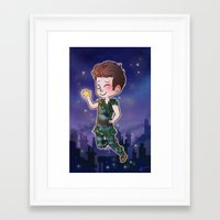peter pan Framed Art Prints featuring Peter Pan by Sunshunes