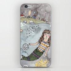 Mermaid and Narwhal Friend iPhone & iPod Skin