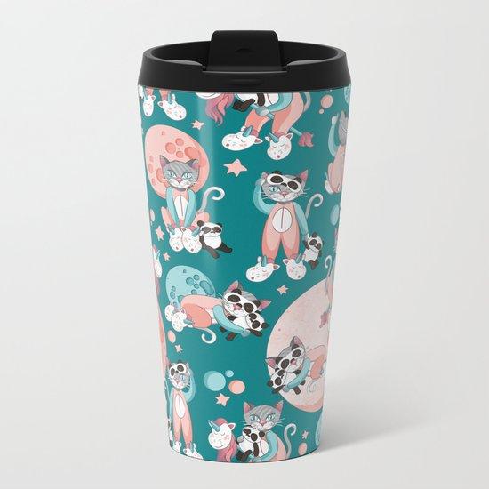 Cats, pandas and unicorns I Metal Travel Mug