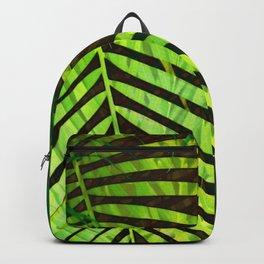 TROPICAL GREENERY LEAVES no8a Backpack
