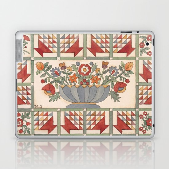 Applique Florals Laptop & iPad Skin