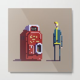 Vault boy and Nuka-Cola Metal Print