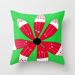 FLOWERY BRITTAS / ORIGINAL DANISH DESIGN bykazandholly Throw Pillow