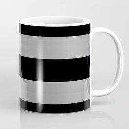 Black & Silver Metallic Stripes Coffee Mug