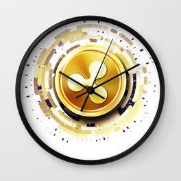 XRP Ripple Monero Cryptocurrency Design Wall Clock