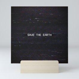 SAVE THE EARTH Mini Art Print