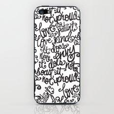 LOVE IS PATIENT... iPhone & iPod Skin