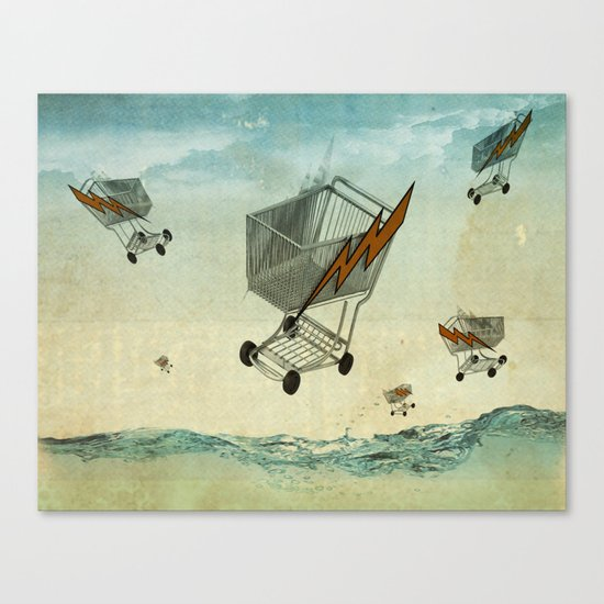 raining trolleys Canvas Print