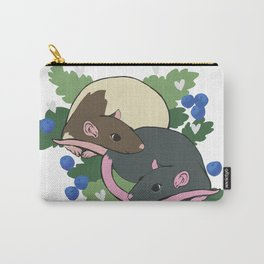Blueberry Rat Pair Carry-All Pouch