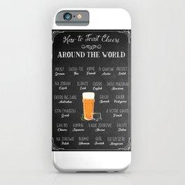 How To Toast Cheers Around The World Beer Garden iPhone Case