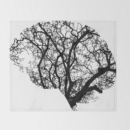 Brain Tree Throw Blanket