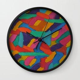 Jewel Tones and Brushstrokes Wall Clock