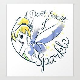 Tinker bell Sweat Sparkle Graphic Art Print