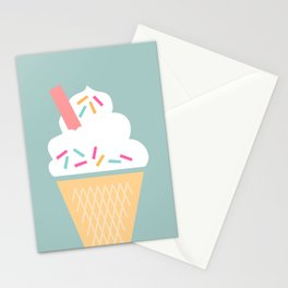 Ice Cream (Mint) Stationery Cards