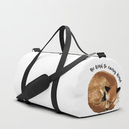 Be kind to every kind - sleeping fox Duffle Bag