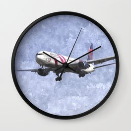 Delta Airlines Boeing 767 Art Wall Clock