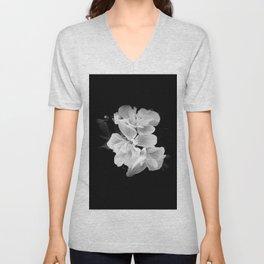 geranium in bw Unisex V-Neck