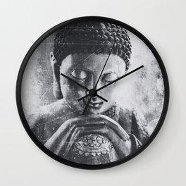 Buddha Grunge Wall Clock