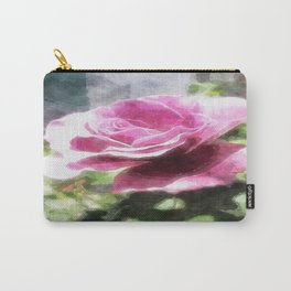 Rosas Moradas 4 Watercolor Carry-All Pouch