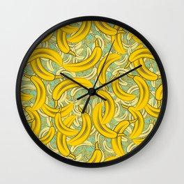 banana extravaganza Wall Clock