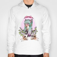 pastel goth Hoodies featuring Oh my GOTH! by Raquel Amo Art