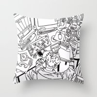 office Throw Pillows featuring office  by sydneymadisonqueen
